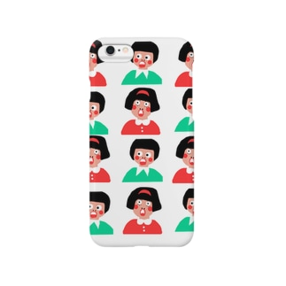 びっくり女の子と男の子 Smartphone cases
