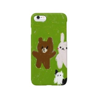 クマーチャとヨシチャとハナチャ Smartphone cases