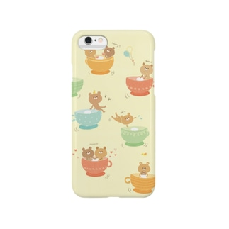 ゆるくまとコーヒーカップ Smartphone cases