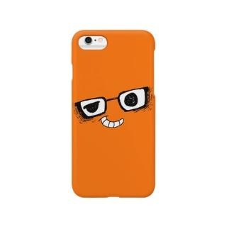 i*Color - MEGANE*【 Orange 】 スマートフォンケース