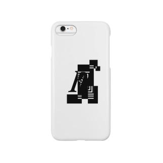 シンプルデザインアルファベットFワンポイント Smartphone cases