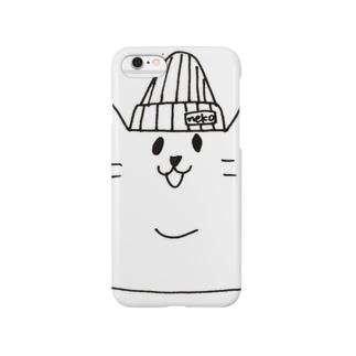 ニジュウアゴネコ ニット帽 Smartphone cases