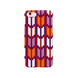ドット(矢絣) Smartphone cases