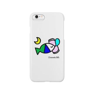 さかなロゴ おやすみ Smartphone cases