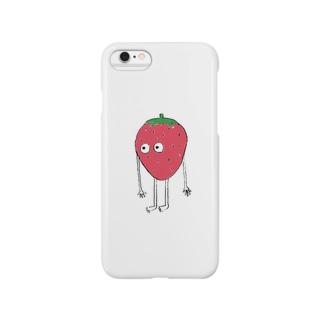 いちごiPhoneケース Smartphone cases