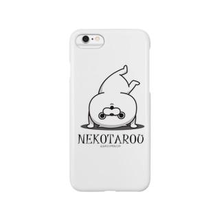 jellyfish西川@毒舌あざらし公式のねこ太郎iPhoneケース/白 Smartphone cases