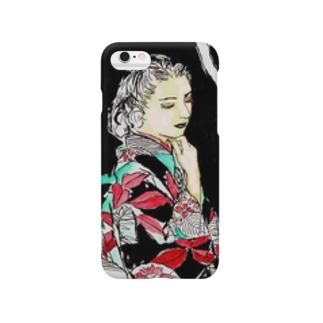 #いくぞ岩田屋  和服美女 堤千代 Smartphone cases