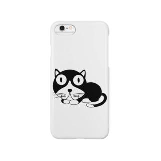 ギョロ目クロネコ Smartphone cases