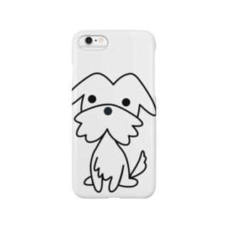 テリアホワイト Smartphone cases