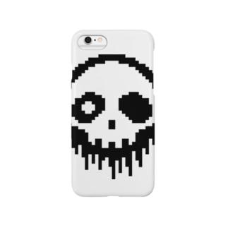 ドット絵ドクロ Smartphone cases