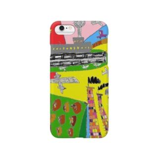 土土介少年のトコナメ絵日記①TOKONAME city Smartphone cases
