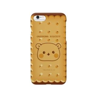 ゲスくまビスケット柄iPhoneケース Smartphone cases
