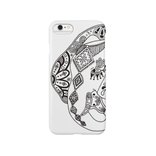 モノクロゾウ Smartphone cases