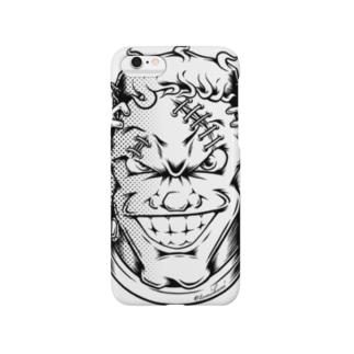 フランケン FACE【モノクロ線画】 Smartphone cases