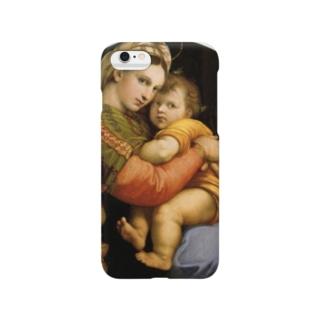 ラファエロ『 小椅子の聖母 』 Smartphone cases