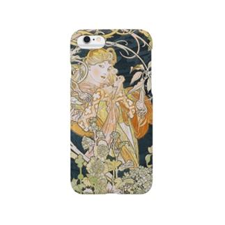 ミュシャ『 ヒナギクを持つ女性 』 Smartphone cases