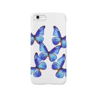 5匹のモルフォ蝶 Smartphone cases
