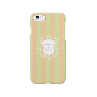 おしゃれボーダーiPhoneケース♥シャンデリア風 Smartphone cases