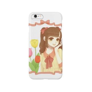 チューリップと女の子 Smartphone cases