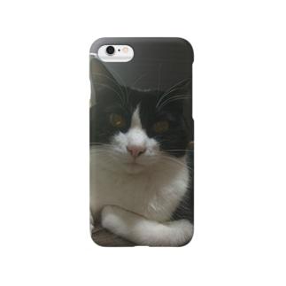 みののお腹に乗るりんごさん Smartphone cases
