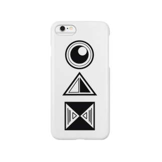 🤑NANAMI🤑の◯三角四角(白黒) Smartphone cases