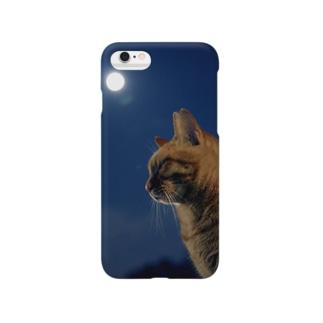 つきねこ Supermoon Smartphone cases