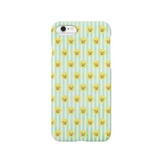 パンジー(グリーン) Smartphone cases