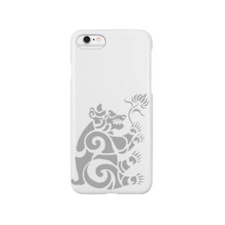 中南米風のクマ Smartphone cases
