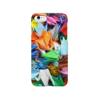折り鶴の群れ Smartphone cases