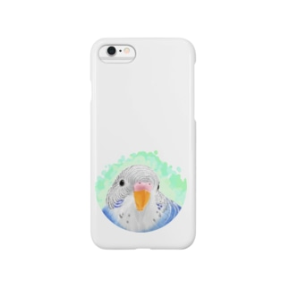 セキセイインコ オパーリン【まめるりはことり】 Smartphone cases