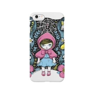 赤ずきんの森PINK スマートフォンケース