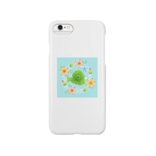 与論模様「花さんご」 Smartphone cases