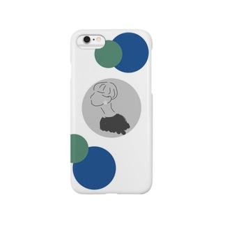 マッシュルームガール (dot) Smartphone cases