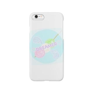 三色だんごドリーマー フチあり Smartphone cases