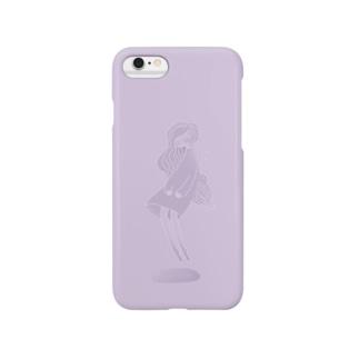藤色の子 Smartphone cases