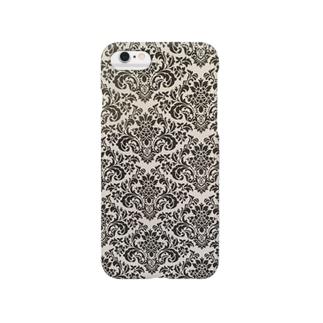 ダマスク柄 ブラック Smartphone cases