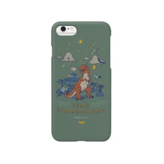 (iPhone6-6s-7-8-X-XS-XR)ティラノサウルス Smartphone cases