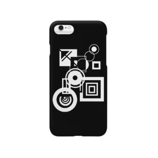 謎の白黒 Smartphone cases