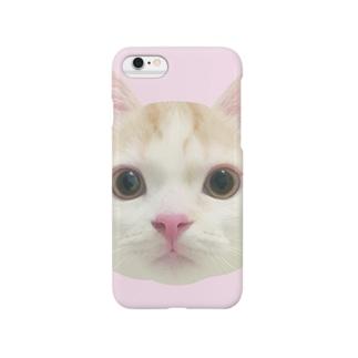にゃんすのケース(ピンク) Smartphone cases