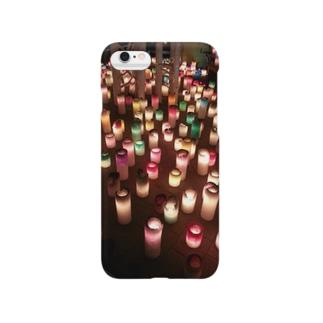 幻想的なキャンドル(縦) Smartphone cases