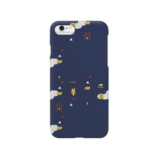 王子のキツネもよう Smartphone cases