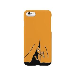 覗き見ねこ Smartphone cases