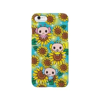 うぱこ先輩のウパ三兄弟 ひまわり Smartphone cases