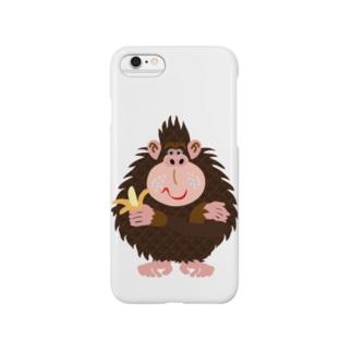 モンキー パンチ No.14:バナナゴリラ Smartphone cases