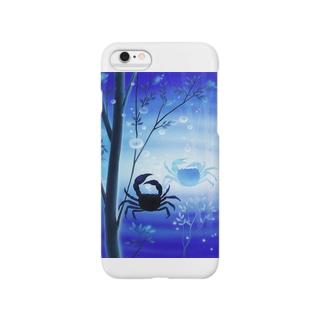 青い川底 Smartphone cases