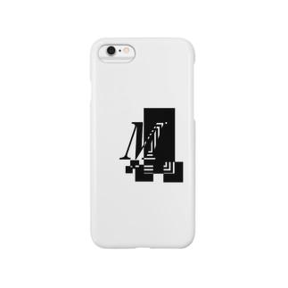 シンプルデザインアルファベットMワンポイント Smartphone cases