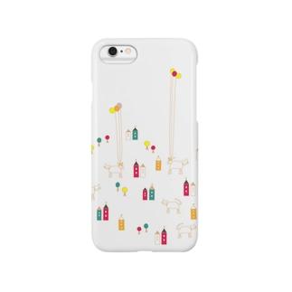 猫バルーーーン Smartphone cases