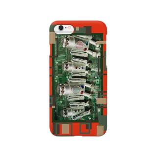 ロボット工場ドカン君オレンジ Smartphone cases