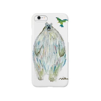 now worksのシロクマ Smartphone cases