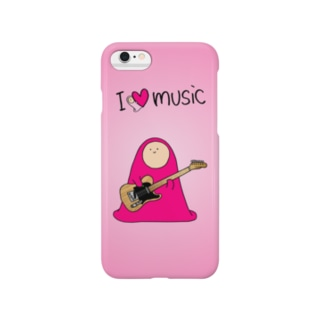 I LOVE MUSIC - アイラヴミュージック エレクトリックギターVer.  Smartphone cases